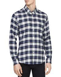 Reiss Blue Cooper Checked Regular Fit Button - Down Shirt for men