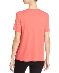 Eileen Fisher - Pink Soft Short-sleeve Tee - Lyst