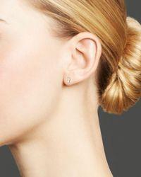 Bloomingdale's Metallic Kc Designs Diamond Small Cross Stud Earrings In 14k Yellow Gold