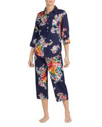 Ralph Lauren - Blue Lauren Seaside Classic Capri Pajama Set - Lyst