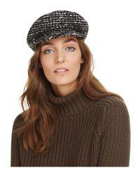 Eugenia Kim Brown Marina Tweed Newsboy Cap