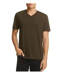 Vince - Brown V-neck Tee for Men - Lyst