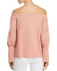 B Collection By Bobeau - Pink Coye Poplin Off-the-shoulder Top - Lyst