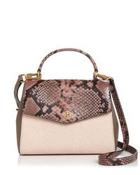 Tory Burch - Multicolor Robinson Mixed Material Top Handle Satchel - Lyst