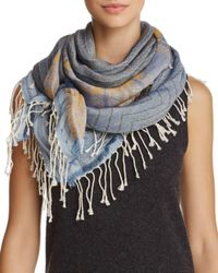 Echo Blue Stripe Patchwork Casual Scarf