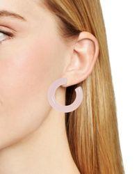 BaubleBar Multicolor Petrina Lucite Hoop Earrings