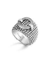 Lagos - Metallic Enso Diamond Ring In Sterling Silver - Lyst