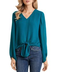 Vince Camuto Green Tie Front Top