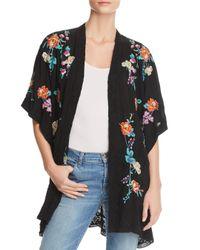 Johnny Was - Black Calla Embroidered Kimono - Lyst