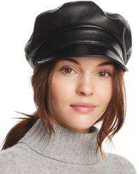Eric Javits - Black Night Porter Leather Cap - Lyst