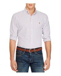 Polo Ralph Lauren | White Plaid Cotton Oxford Classic Fit Button-down Shirt for Men | Lyst