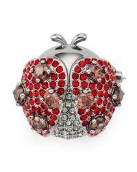 Nadri - Red Siam Ladybug Pin - Lyst