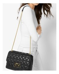 MICHAEL Michael Kors Black Sloan Chain Quilted Extra-large Leather Shoulder Bag