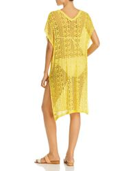 Echo Yellow Pointelle Caftan Swim Cover - Up