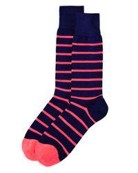 Paul Smith - Blue Neon Stripe Socks for Men - Lyst