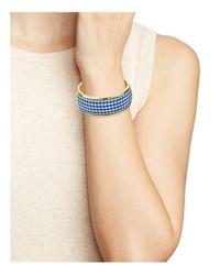 Kate Spade - Blue Striped Bangle Bracelet - Lyst