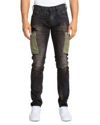 PRPS Kingsburg Cargo Skinny Fit Jeans In Black for men