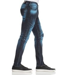 True Religion Rocco Biker Super Slim Fit Jeans In Blue Blaze for men