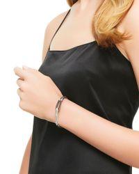John Hardy Metallic Bamboo Silver Lava Hook Bracelet With Black Sapphire