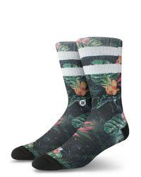 Stance Black Bagheera Tropical-print Socks for men