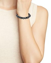 Bourbon and Boweties - Black Faceted Stretch Bracelet - Lyst