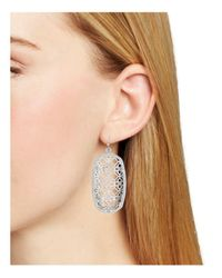 Kendra Scott - Metallic Filigree Danielle Earrings - Lyst