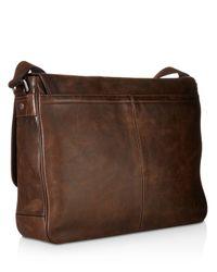 Frye Brown Oliver Leather Messenger Bag for men