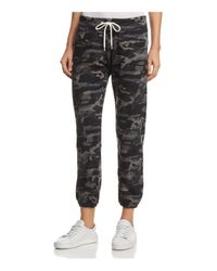 Monrow Gray Zip-pocket Camo Vintage Sweatpants