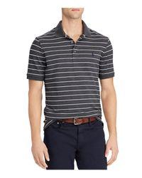 Polo Ralph Lauren - Black Striped Stretch Mesh Short Sleeve Polo Shirt for Men - Lyst