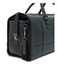 Ted Baker - Green Cross Grain Leather Holdall for Men - Lyst