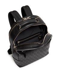 Ferragamo Black Gancini Leather Backpack for men