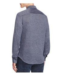 Armani - Blue Regular Fit Button-down Shirt for Men - Lyst