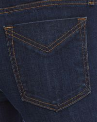 10 Crosby Derek Lam Blue Devi Mid-rise Authentic Skinny Jeans In Dark Wash