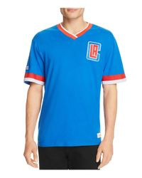 Mitchell & Ness Blue Los Angeles Clippers Vintage Nba V-neck Tee for men