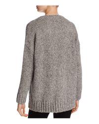 Eileen Fisher Gray Organic Wool-blend Sweater