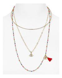 Rebecca Minkoff | Metallic Layered Collar Necklace | Lyst