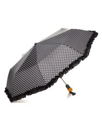 Bloomingdale's Black Ruffle Dot Umbrella