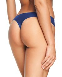 Chantelle Blue Soft Stretch One - Size Seamless Thong