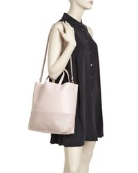 Alice.D Pink Medium Perforated Leather Tote