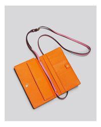 MCM Pink Color Visetos Coated Canvas Crossbody Wallet