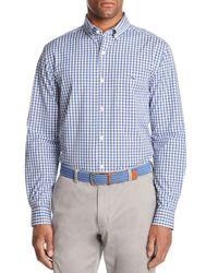 Vineyard Vines Blue Carleton Gingham Tucker Classic Fit Sport Shirt for men