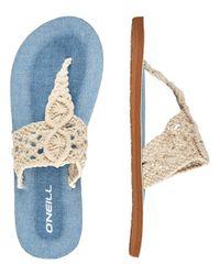 O'neill Sportswear Blue Crochet Sandals