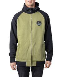 Ride Fleece Jacket verde Rip Curl de hombre de color Green