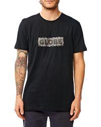 Melt T-Shirt negro Globe de hombre de color Black