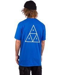 Essentials TT T-Shirt azul Huf de hombre de color Blue