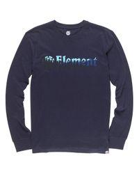 Element Glimpse Horizontal Long Sleeve T-Shirt in Blue für Herren