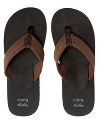 Seaway Suede Sandals negro Billabong de hombre de color Black