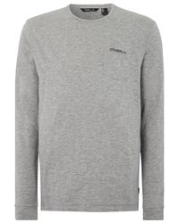 O'neill Sportswear Essentials Long Sleeve T-Shirt in Gray für Herren