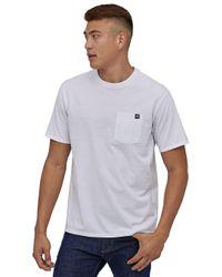 Flying Fish Label Pocket Responsb T-Shirt blanco Patagonia de hombre de color White