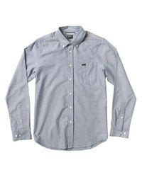 That'Ll Do Oxford Shirt azul RVCA de hombre de color Blue